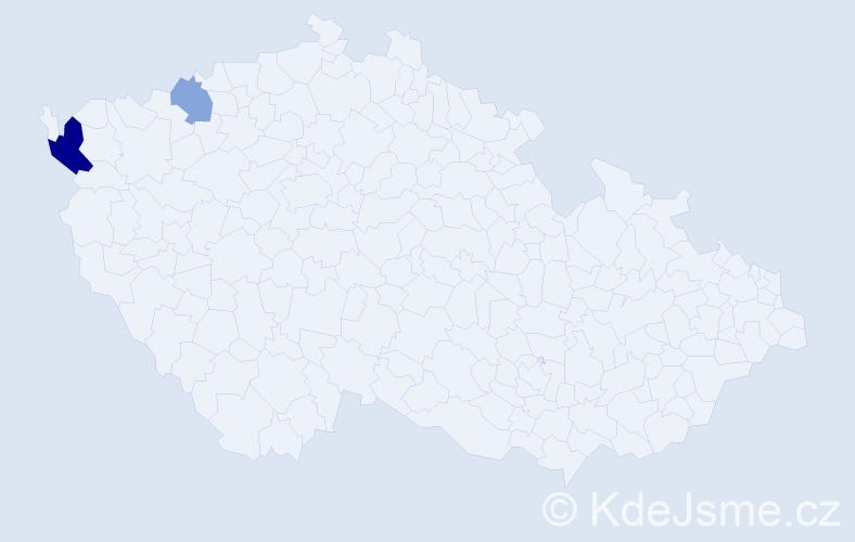 Příjmení: 'Kohutiárová', počet výskytů 4 v celé ČR