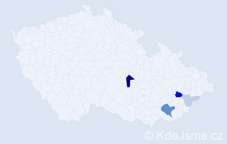 Příjmení: 'Hlúšková', počet výskytů 11 v celé ČR