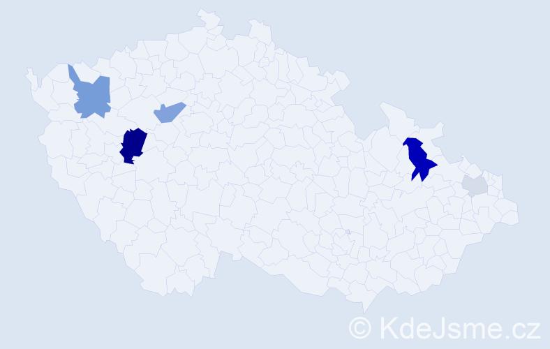 Příjmení: 'Ivaninová', počet výskytů 12 v celé ČR