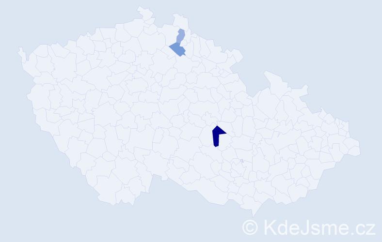 Příjmení: 'Isaides', počet výskytů 4 v celé ČR