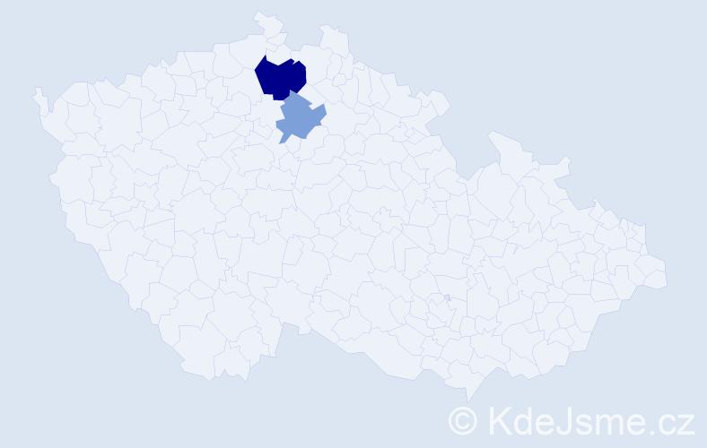 Příjmení: 'Belekanyč', počet výskytů 4 v celé ČR