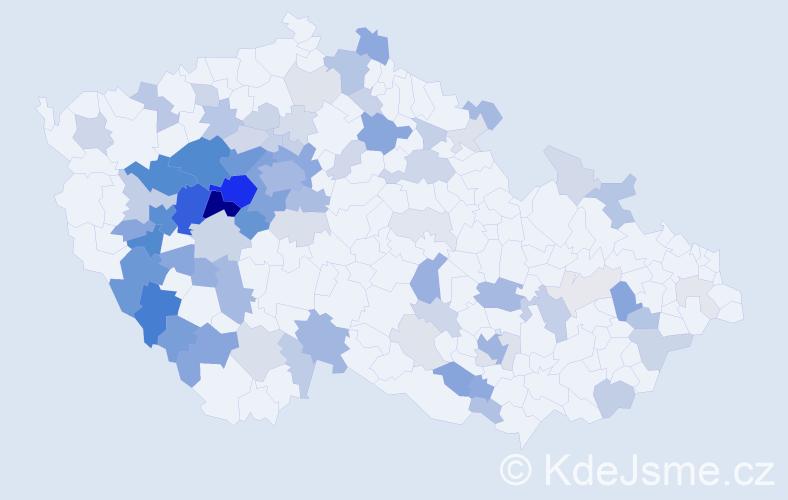 Příjmení: 'Houbová', počet výskytů 264 v celé ČR