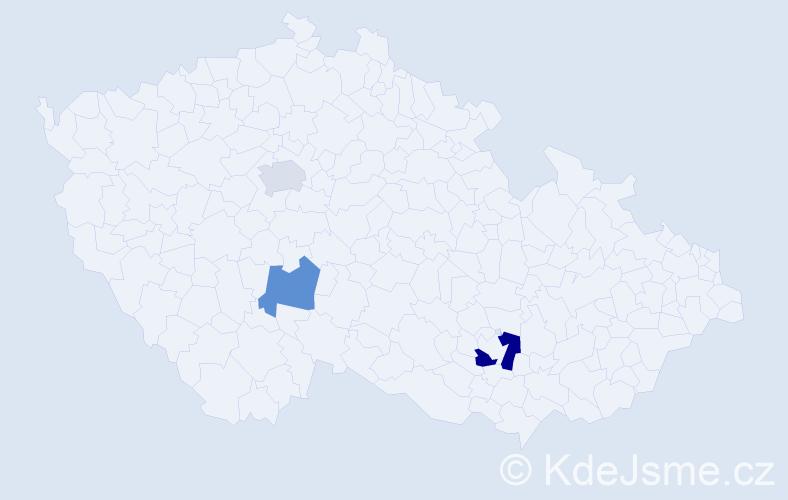 Příjmení: 'Geisberger', počet výskytů 4 v celé ČR