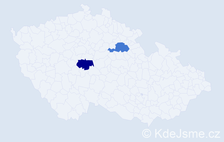 Příjmení: 'Engelsová', počet výskytů 2 v celé ČR