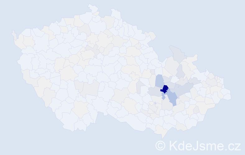 Příjmení: 'Grepl', počet výskytů 671 v celé ČR