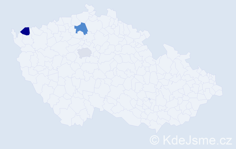 Příjmení: 'Egrešiová', počet výskytů 5 v celé ČR