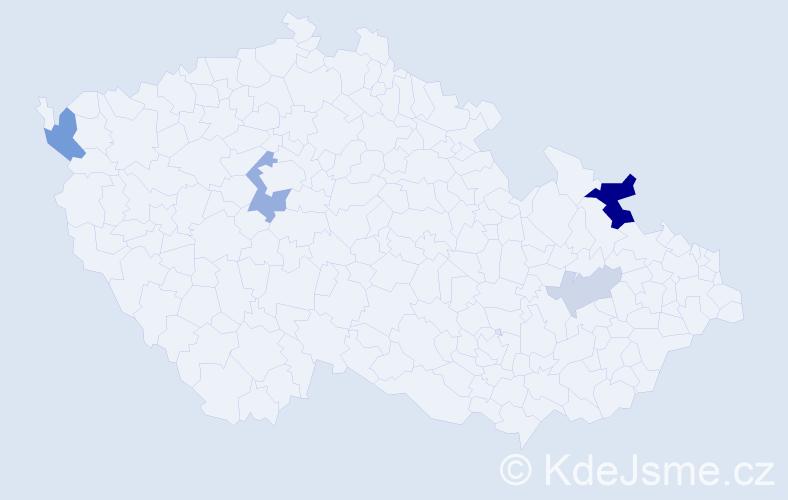 Příjmení: 'Golláň', počet výskytů 10 v celé ČR