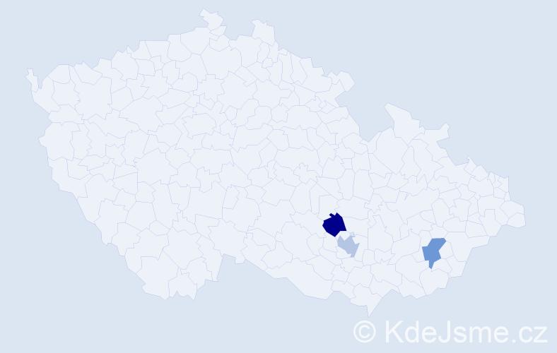 Příjmení: 'Kikuchi', počet výskytů 3 v celé ČR