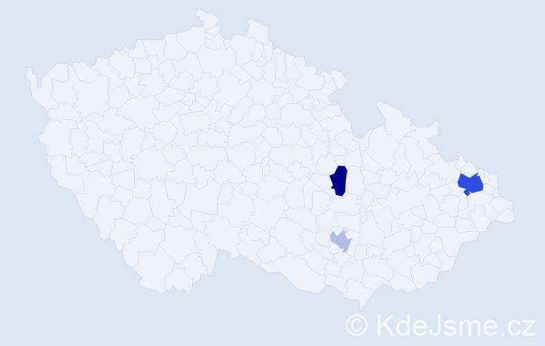 Příjmení: 'Lepiařová', počet výskytů 6 v celé ČR