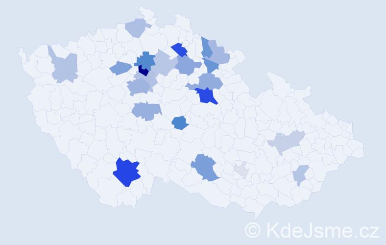 Příjmení: 'Hain', počet výskytů 49 v celé ČR