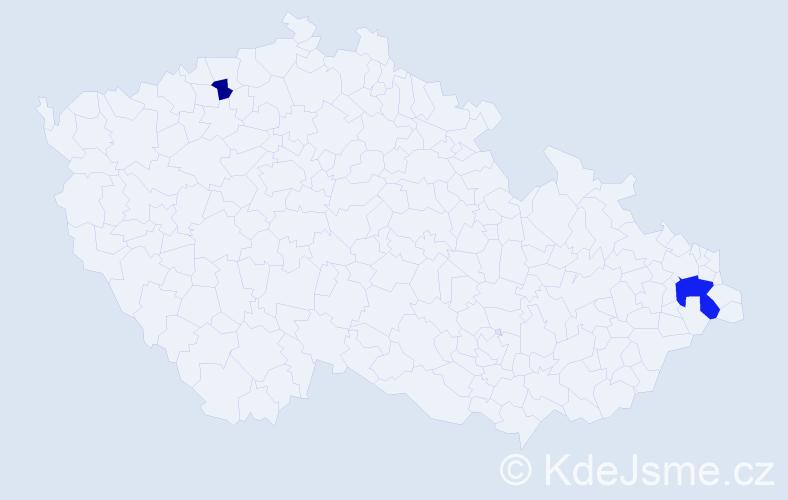 Příjmení: 'Boškov', počet výskytů 4 v celé ČR