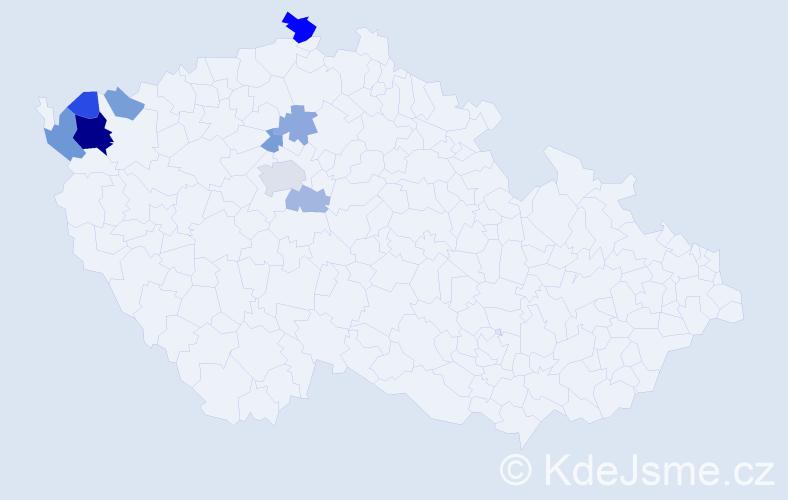 Příjmení: 'Lališ', počet výskytů 21 v celé ČR