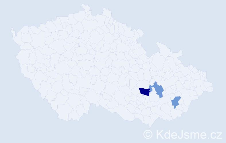 Příjmení: 'Favero', počet výskytů 4 v celé ČR