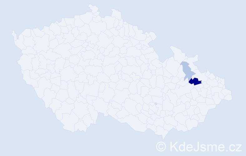 Příjmení: 'Benišek', počet výskytů 4 v celé ČR