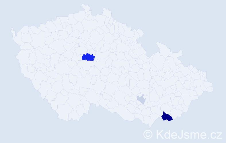 Příjmení: 'Barančinová', počet výskytů 5 v celé ČR