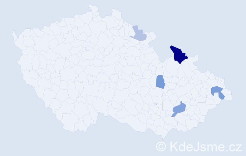 Příjmení: 'Balážiová', počet výskytů 12 v celé ČR