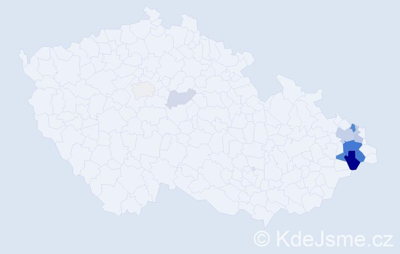 Příjmení: 'Glembková', počet výskytů 29 v celé ČR