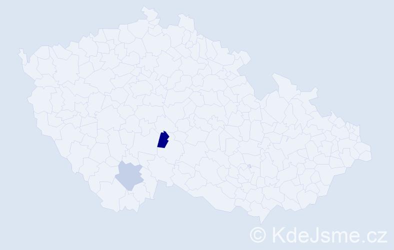 Příjmení: 'Ceaoi', počet výskytů 2 v celé ČR