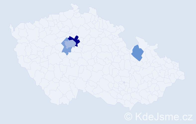 Příjmení: 'Barvich', počet výskytů 9 v celé ČR