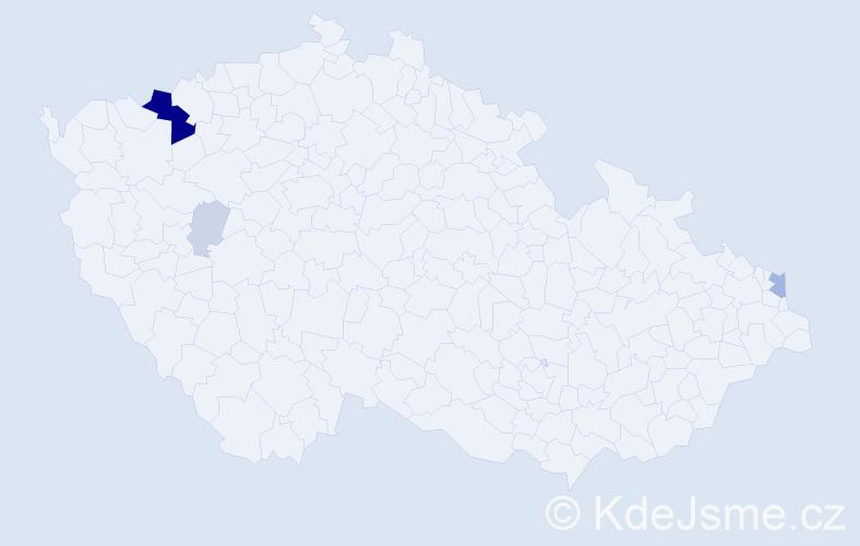 Příjmení: 'Danišík', počet výskytů 16 v celé ČR