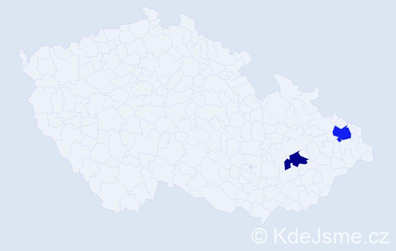 Příjmení: 'Eilers', počet výskytů 3 v celé ČR