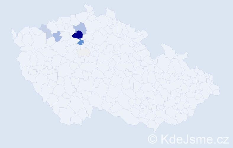 Příjmení: 'Hollitzerová', počet výskytů 16 v celé ČR