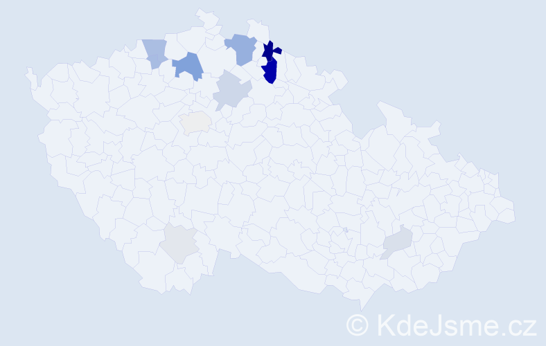 Příjmení: 'Ceé', počet výskytů 37 v celé ČR