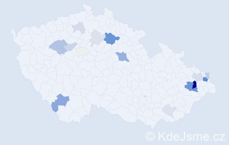 Příjmení: 'Burgert', počet výskytů 54 v celé ČR