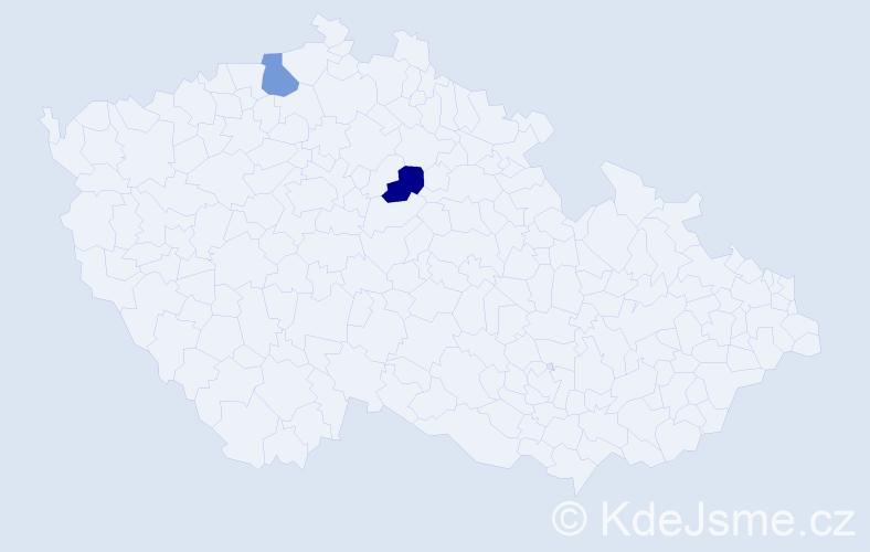 """Příjmení: '""""Do Van""""', počet výskytů 2 v celé ČR"""