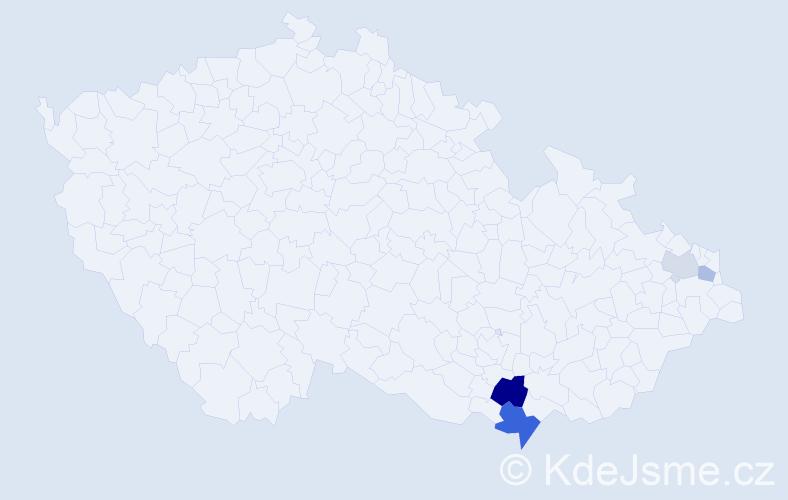 Příjmení: 'Kraicinger', počet výskytů 8 v celé ČR