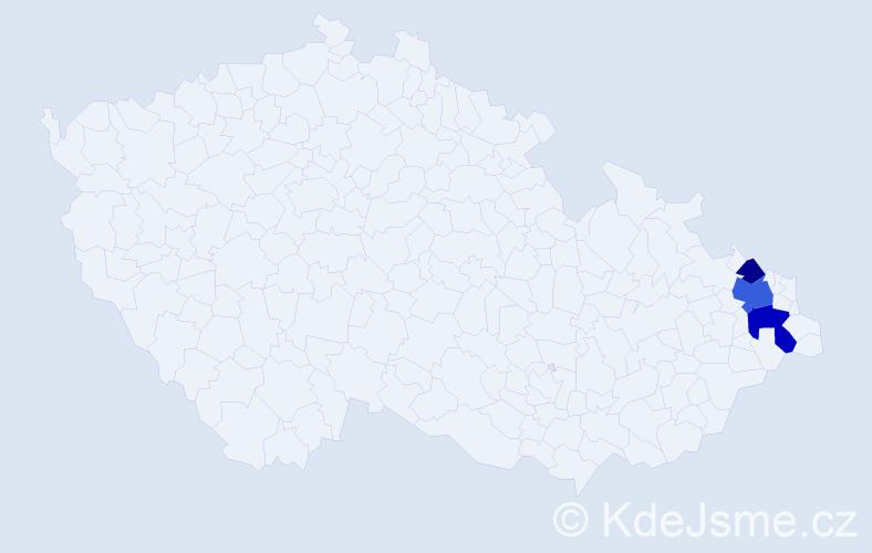 Příjmení: 'Gromotovičová', počet výskytů 6 v celé ČR