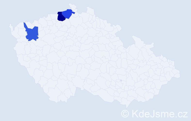 Příjmení: 'Fedorjáková', počet výskytů 8 v celé ČR