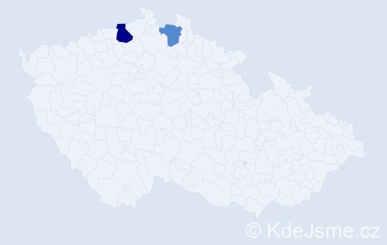 Příjmení: 'Elmrich', počet výskytů 3 v celé ČR