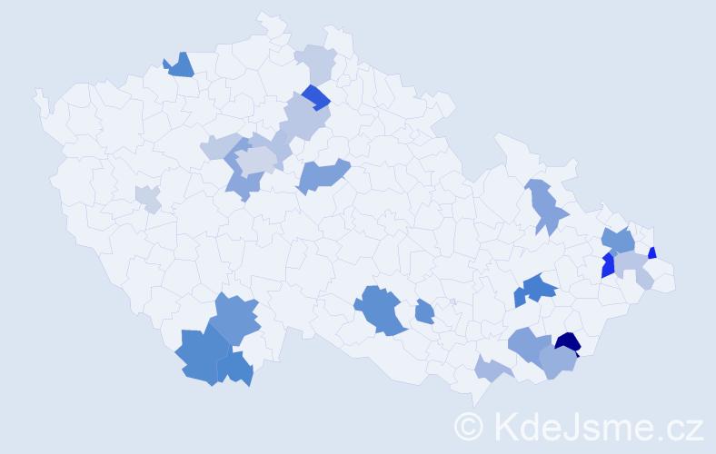 Příjmení: 'Čierná', počet výskytů 52 v celé ČR