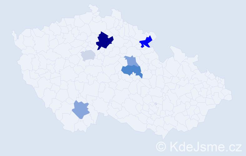 Příjmení: 'Erychleb', počet výskytů 22 v celé ČR