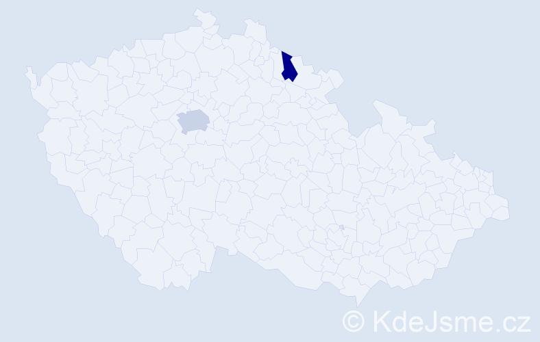 Příjmení: 'Effemberková', počet výskytů 3 v celé ČR
