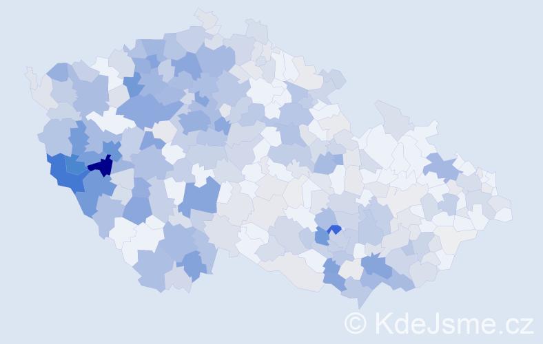 Příjmení: 'Cibulková', počet výskytů 1367 v celé ČR