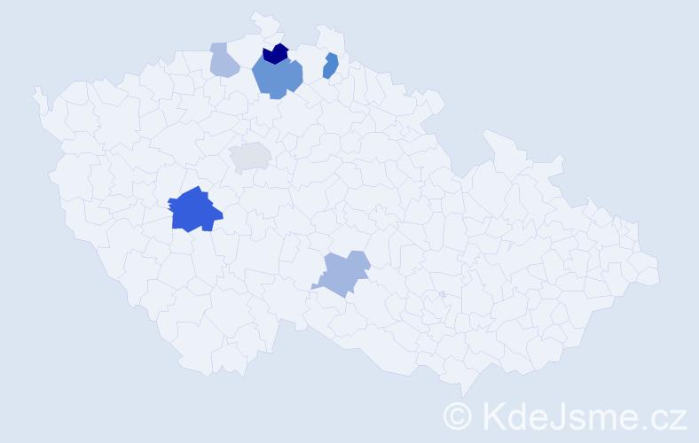 Příjmení: 'Laipoldová', počet výskytů 13 v celé ČR