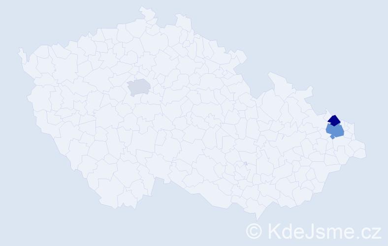 Příjmení: 'Hűbscherová', počet výskytů 4 v celé ČR