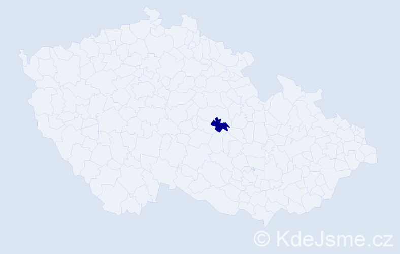 """Příjmení: '""""Arlt Čechlovská""""', počet výskytů 1 v celé ČR"""