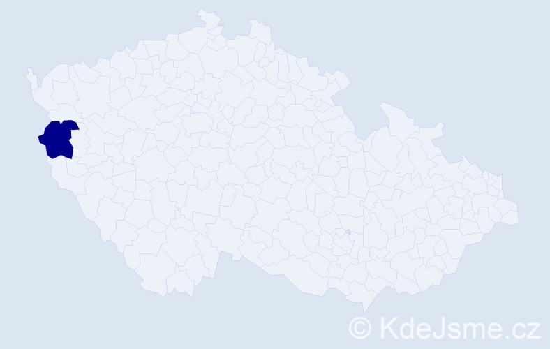 Příjmení: 'Klouzar', počet výskytů 1 v celé ČR