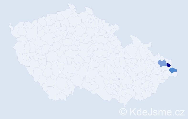 Příjmení: 'Kołorzová', počet výskytů 6 v celé ČR