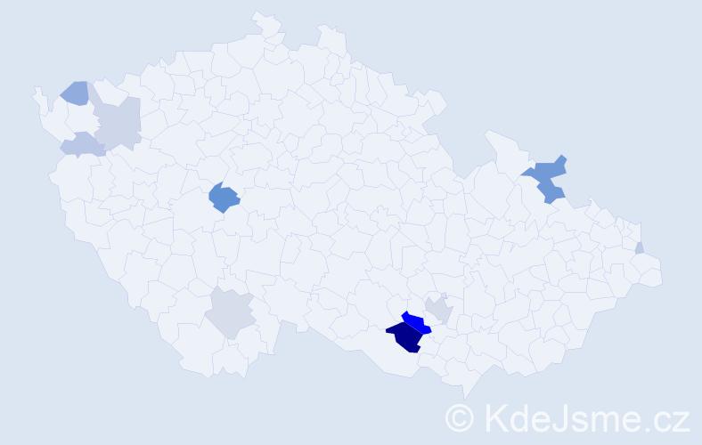 Příjmení: 'Eckl', počet výskytů 35 v celé ČR
