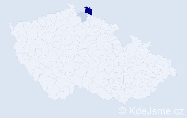 Příjmení: 'Barůšková', počet výskytů 4 v celé ČR
