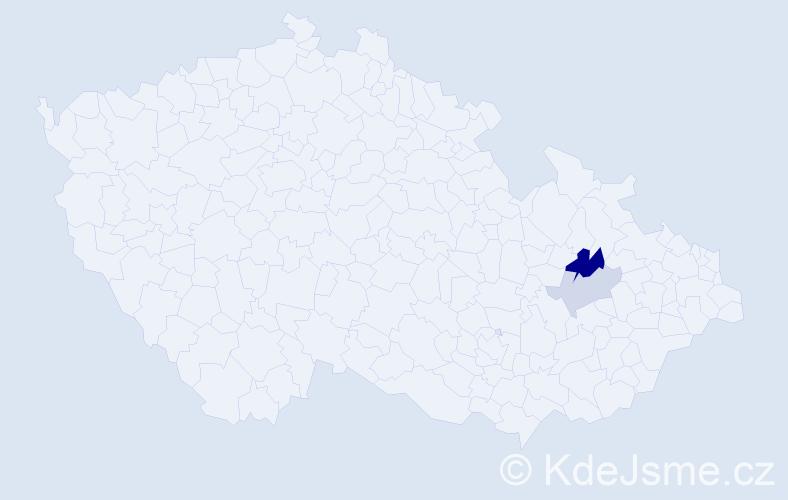 Příjmení: 'Hlůzová', počet výskytů 4 v celé ČR