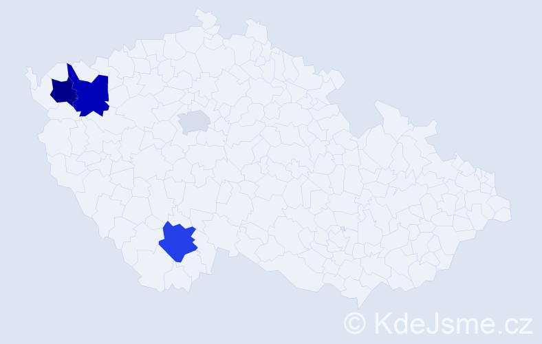 Příjmení: 'Jaloševský', počet výskytů 7 v celé ČR