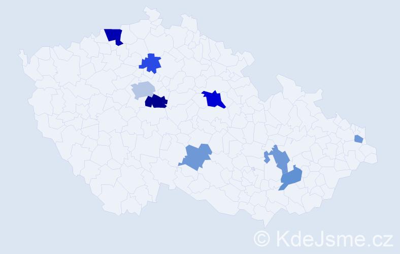 Příjmení: 'Ftorek', počet výskytů 16 v celé ČR