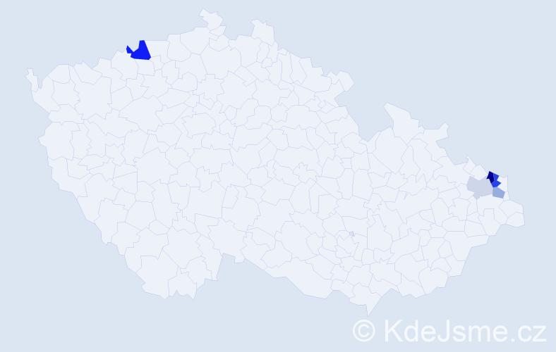 Příjmení: 'Isaiáš', počet výskytů 8 v celé ČR