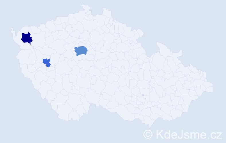 Příjmení: 'Griessl', počet výskytů 6 v celé ČR