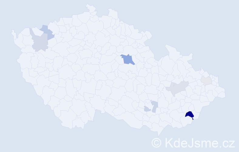 Příjmení: 'Gapčo', počet výskytů 13 v celé ČR